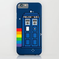 iPhone & iPod Case featuring TARDIS / Nyan / 8-Bit Poster by Colin Capurso