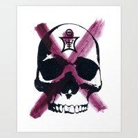 Shaman Skull Art Print
