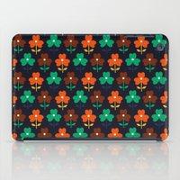 Multy retro flowers black iPad Case