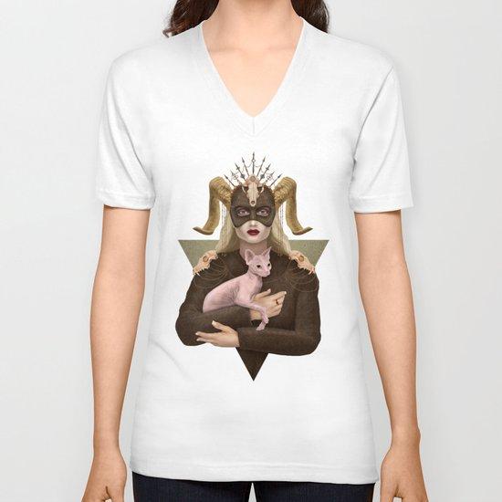 Priestess V-neck T-shirt