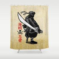 Debate Over: Pirates vs. Ninjas Shower Curtain