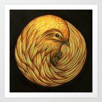 Bird Spiral Art Print