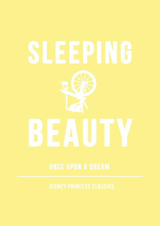 Disney Princesses: Sleeping Beauty Minimalist Art Print