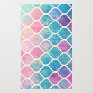 Rug featuring Rainbow Pastel Watercolo… by Micklyn