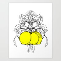 Meyer Lemon Art Print