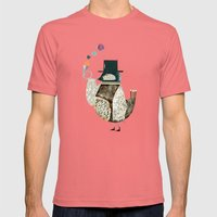 the dapper bird Mens Fitted Tee Pomegranate SMALL