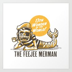 Feejee merman Art Print