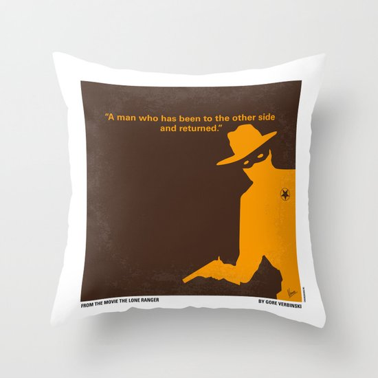 No202 My The Lone Ranger minimal movie poster Throw Pillow