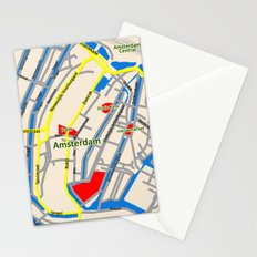 Amsterdam Map design Stationery Cards