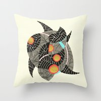 - summer spaceships of love - Throw Pillow