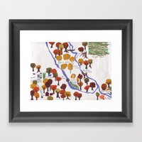 Map Of The Woods Framed Art Print