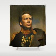 Nicolas Cage - Replacefa… Shower Curtain