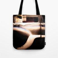 Black Vintage American Car in Cuba. Tote Bag