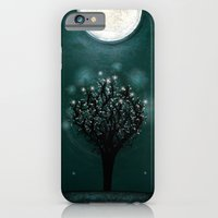 iPhone & iPod Case featuring the midnight tree by Polkip