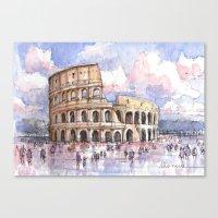 Il Colosseo, Roma (Color Version) Canvas Print