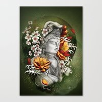 As a lotus Canvas Print