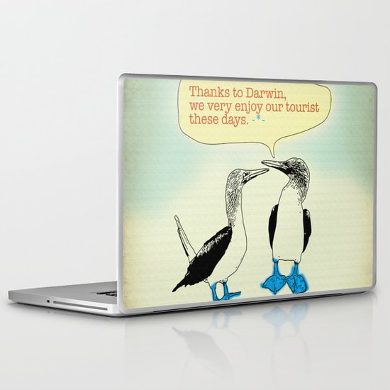 Leave Galapagos alone,pls. Laptop & iPad Skin