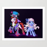 Mad T Ponies 'Alice and Tarrant' Art Print