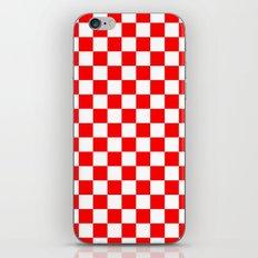 Checker (Red/White) iPhone & iPod Skin