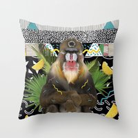 MANDRIL Throw Pillow