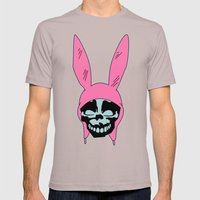 Grey Rabbit/Pink Ears Mens Fitted Tee Cinder SMALL
