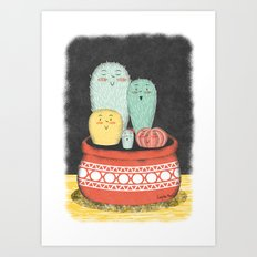 Cactus Family Art Print