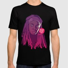 THE WALKING DEAD - Michonne SMALL Black Mens Fitted Tee