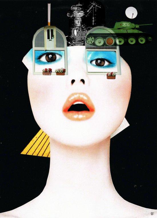 Crazy Woman - Marie Jane/Collab with Hugo Barros Art Print