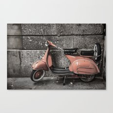 Vintage Moped Canvas Print