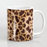 Leopard Fur Abstract Kaleidoscope Print Mug