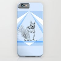 Squirrel stealing nuts iPhone 6 Slim Case