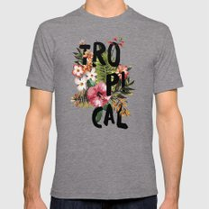 Tropical I Mens Fitted Tee Tri-Grey SMALL