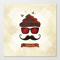 Hipster Hat Canvas Print