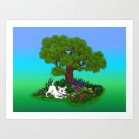 Spring-awakening - Puppy… Art Print