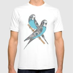 Budgies SMALL White Mens Fitted Tee