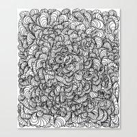 Squigg Block Canvas Print