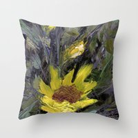 Sun flower  Throw Pillow