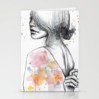Implosion, Watercolor Wi… Stationery Cards