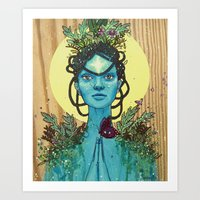 Meditation On Mother Nat… Art Print