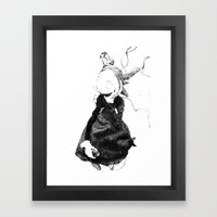Death in Paris Framed Art Print