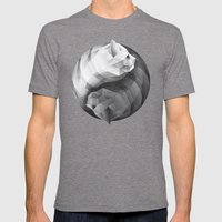 Catyang Mens Fitted Tee Tri-Grey SMALL