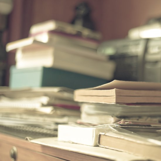Pile of books  (Retro and Vintage Still Life Photography) Art Print