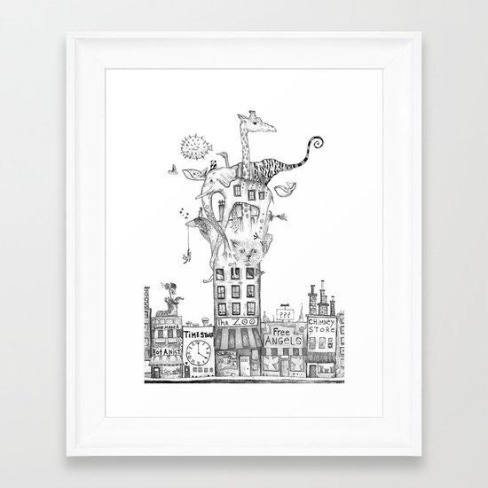 Odd Neighborhood Framed Art Print