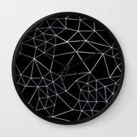 Segment Zoom Black And W… Wall Clock