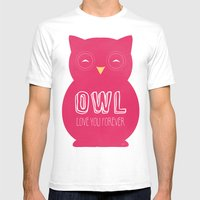 Owl Love You Forever - P… Mens Fitted Tee White SMALL