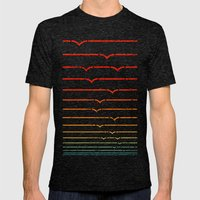 Seagull Sunset Mens Fitted Tee Tri-Black SMALL