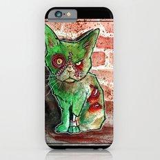Mean Green Cute Zombie Cat Slim Case iPhone 6s
