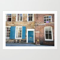 Teal Doors Art Print