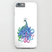 iPhone & iPod Case featuring Peaceful Peacock by Catherine Holcombe