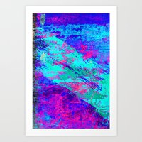 AA4 Abstract watercolour collage Art Print